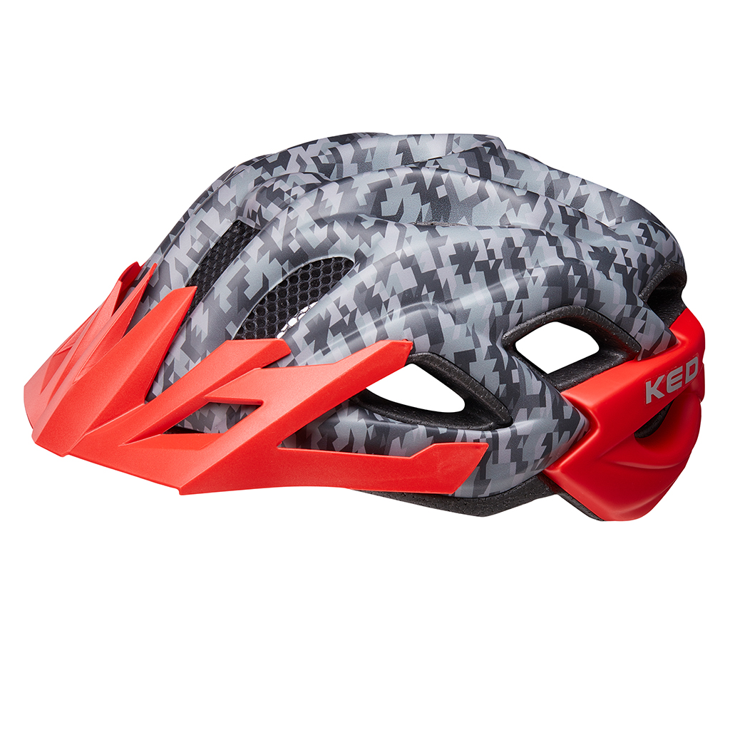 Шлем KED Status Junior Camouflage Anthracite Red S