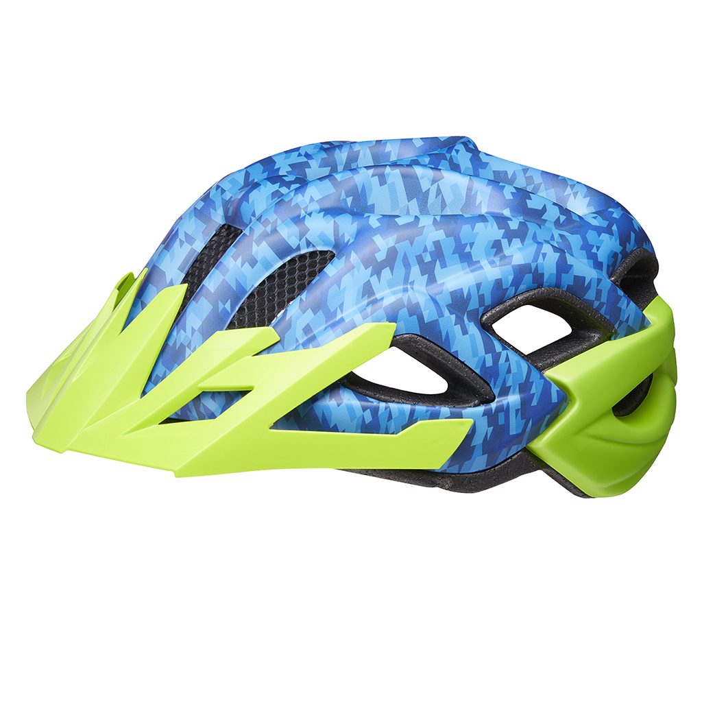 Шлем KED Status Junior Camouflage Blue Green S