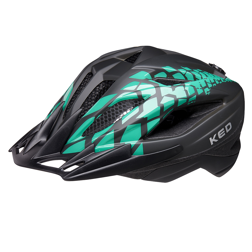Шлем KED Street Junior Pro Black Green Matt S